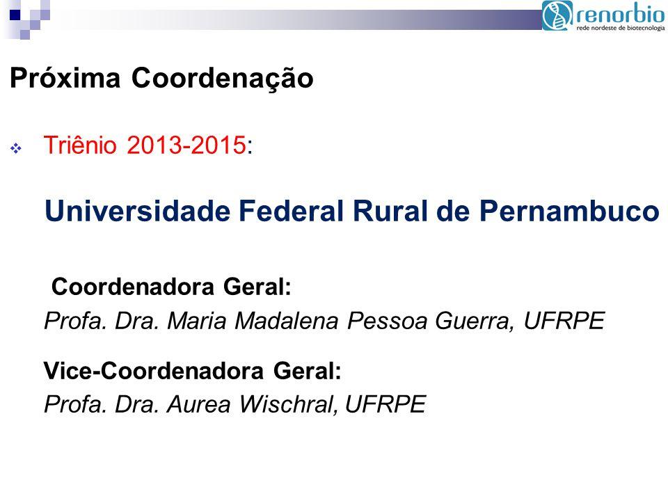 Próxima Coordenação Triênio 2013-2015: