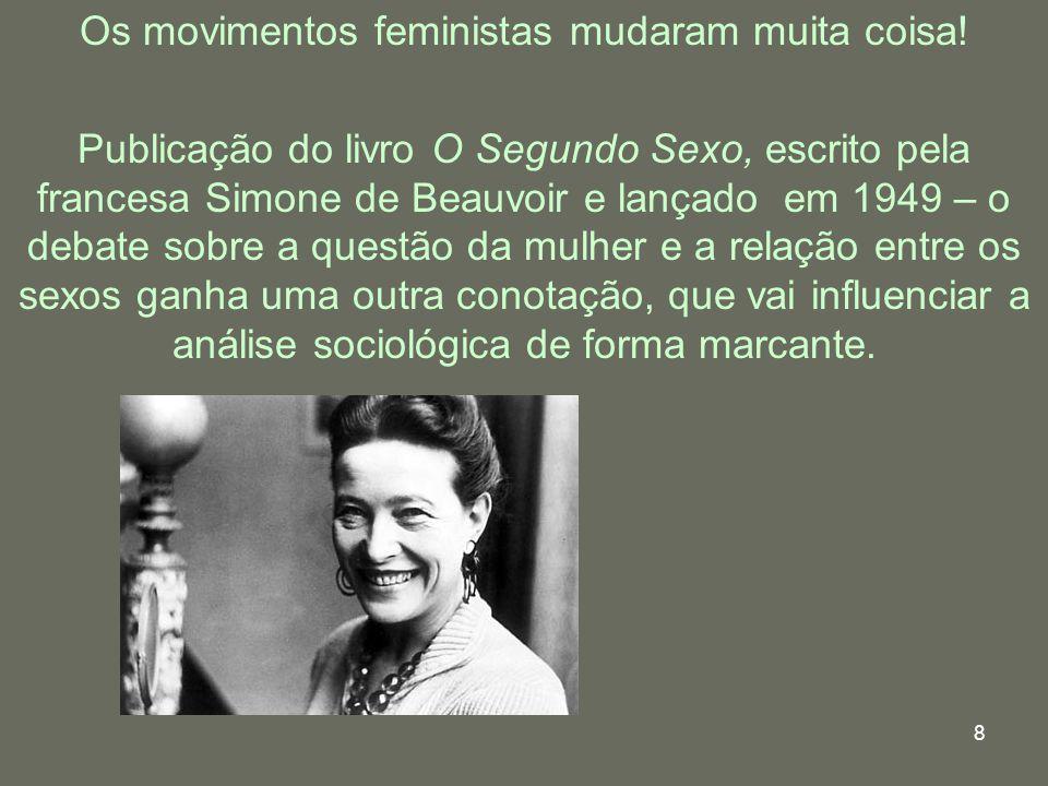Os movimentos feministas mudaram muita coisa!