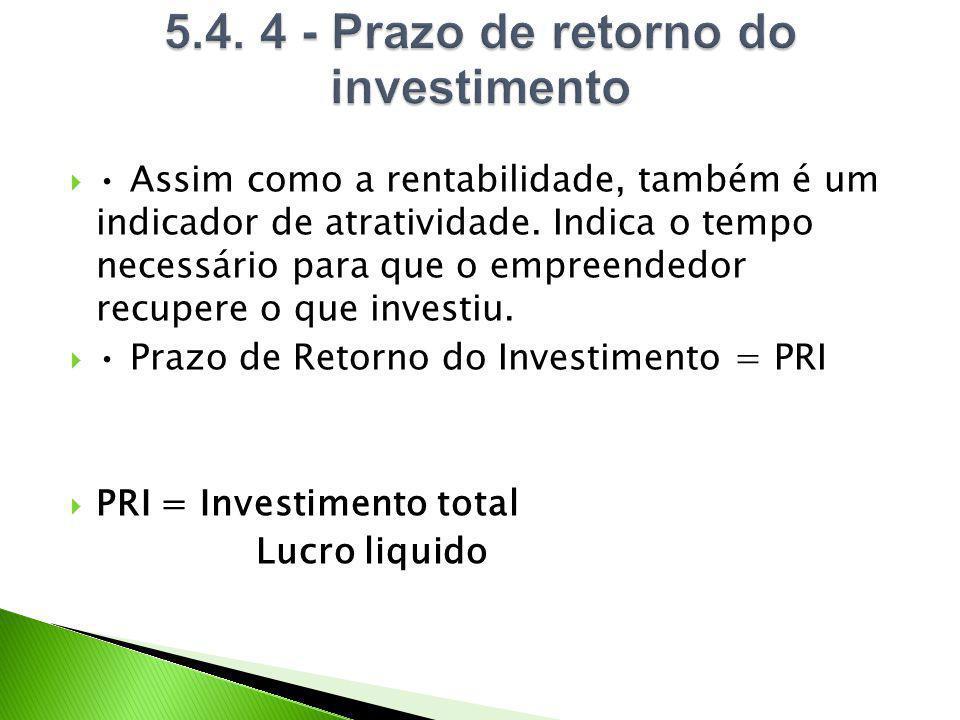 5.4. 4 - Prazo de retorno do investimento