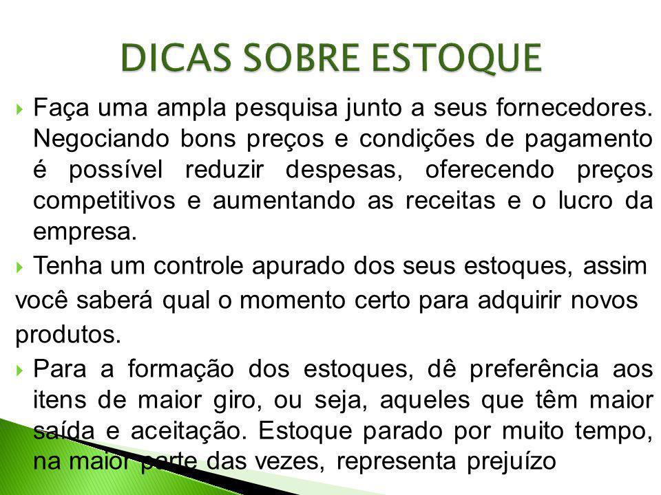 DICAS SOBRE ESTOQUE