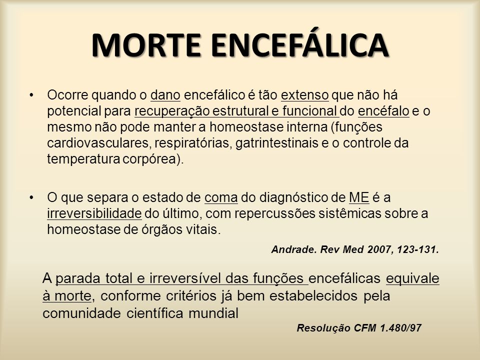 MORTE ENCEFÁLICA
