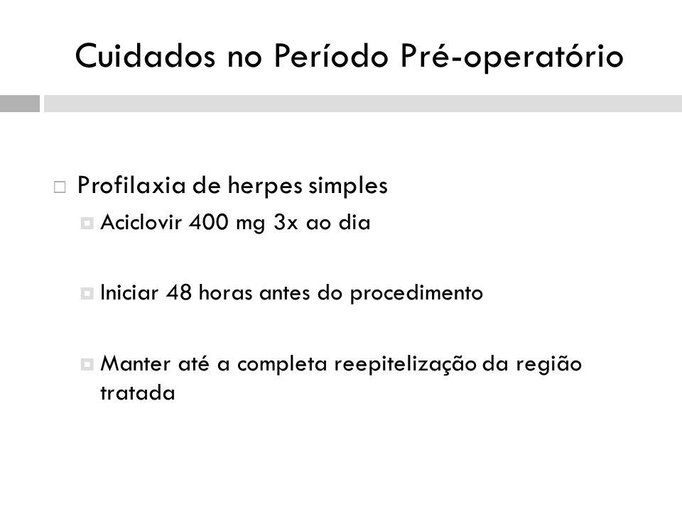 Cuidados no Período Pré-operatório