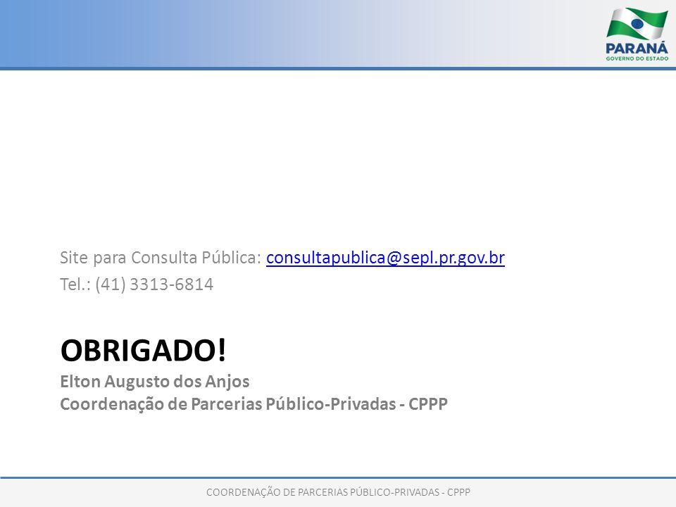 COORDENAÇÃO DE PARCERIAS PÚBLICO-PRIVADAS - CPPP