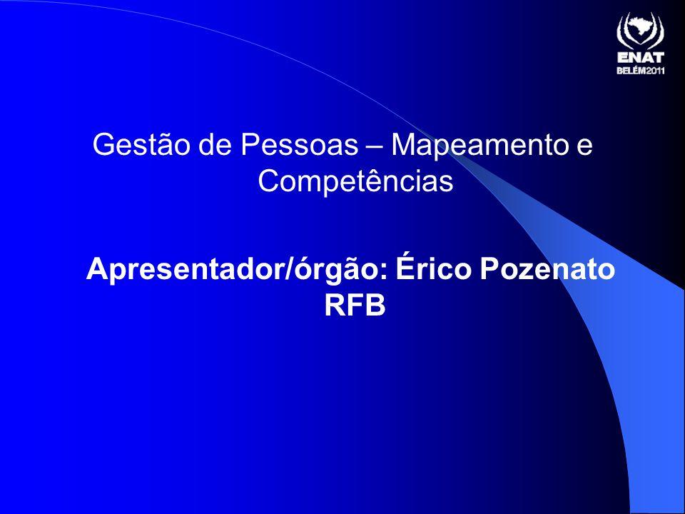 Apresentador/órgão: Érico Pozenato RFB