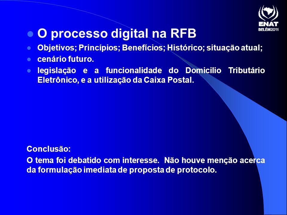 O processo digital na RFB