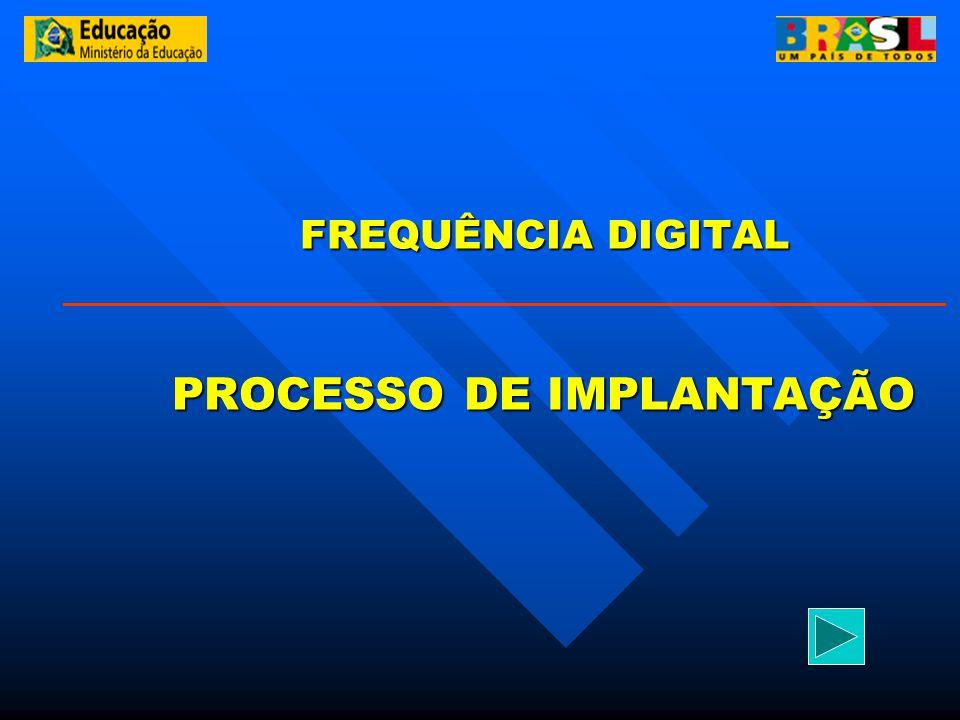 FREQUÊNCIA DIGITAL PROCESSO DE IMPLANTAÇÃO