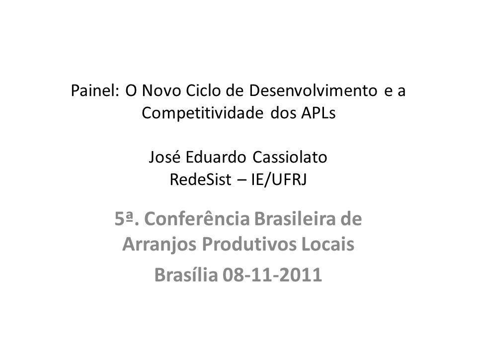 5ª. Conferência Brasileira de Arranjos Produtivos Locais