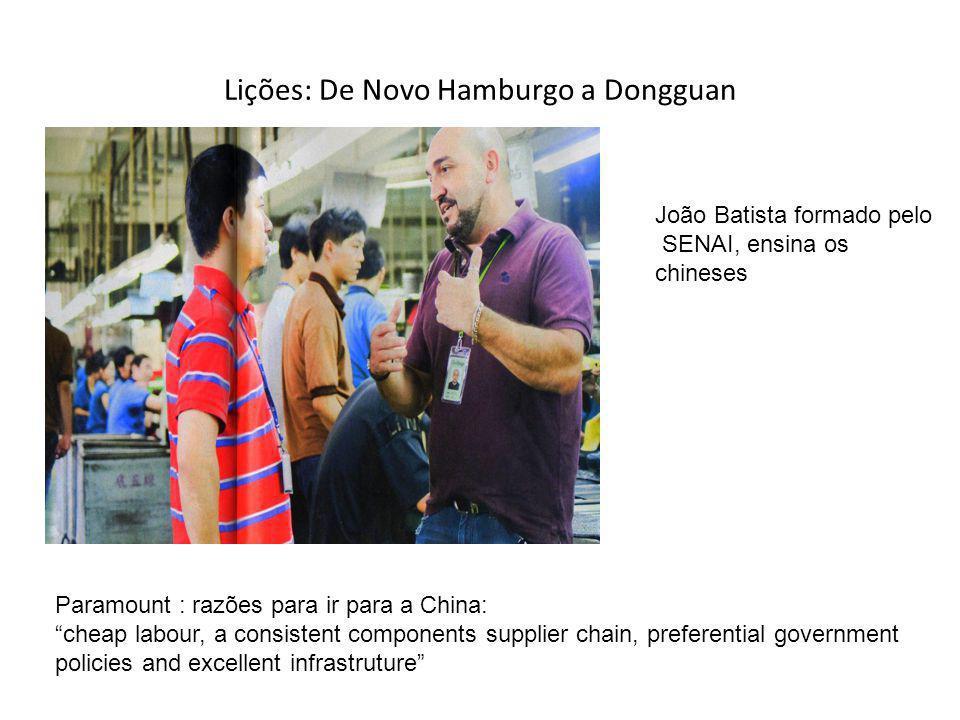 Lições: De Novo Hamburgo a Dongguan