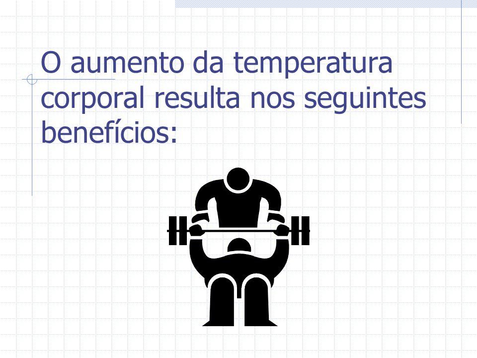 O aumento da temperatura corporal resulta nos seguintes benefícios: