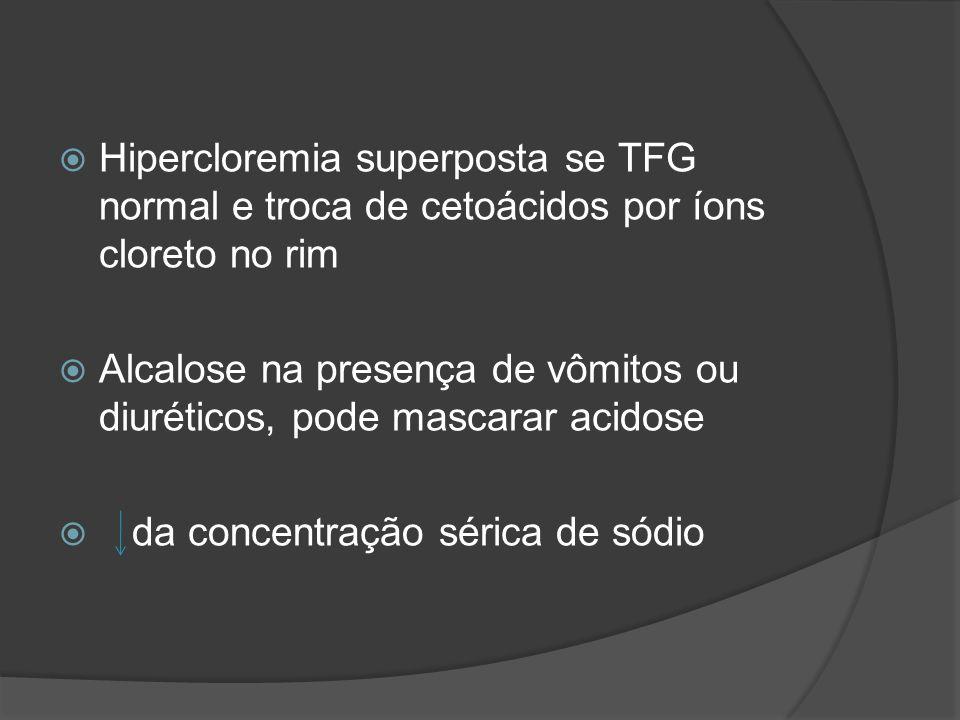 Hipercloremia superposta se TFG normal e troca de cetoácidos por íons cloreto no rim