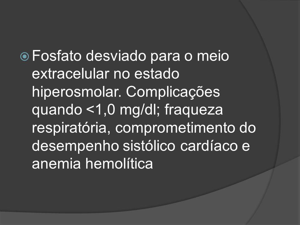 Fosfato desviado para o meio extracelular no estado hiperosmolar