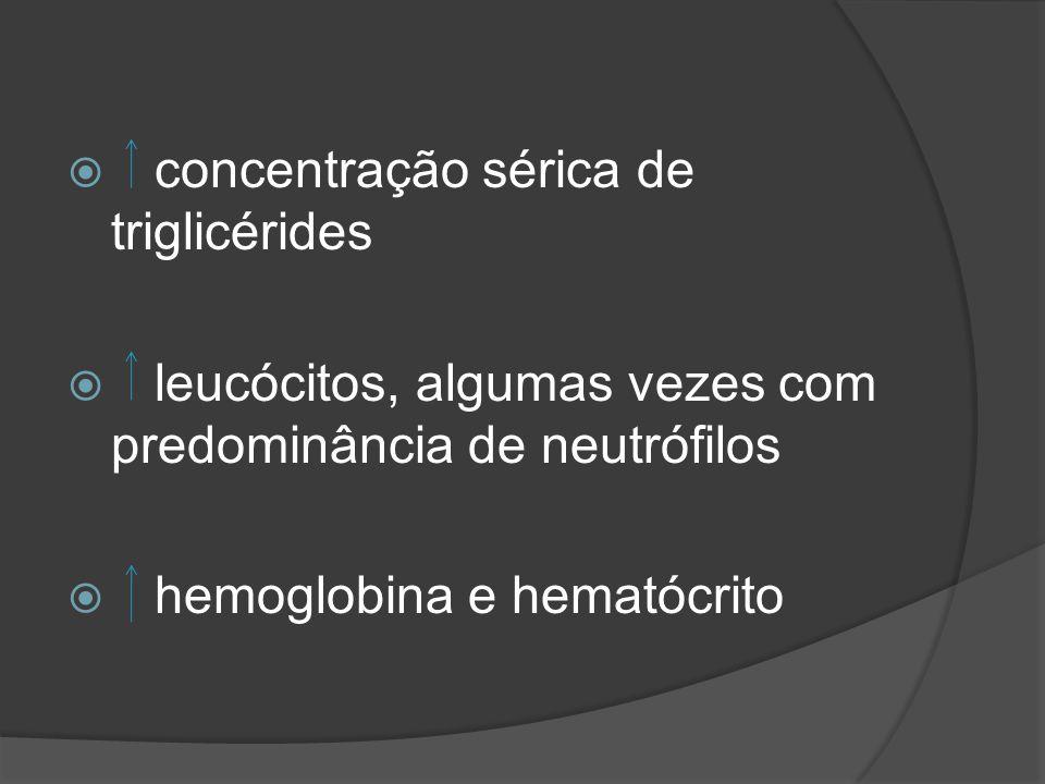 concentração sérica de triglicérides