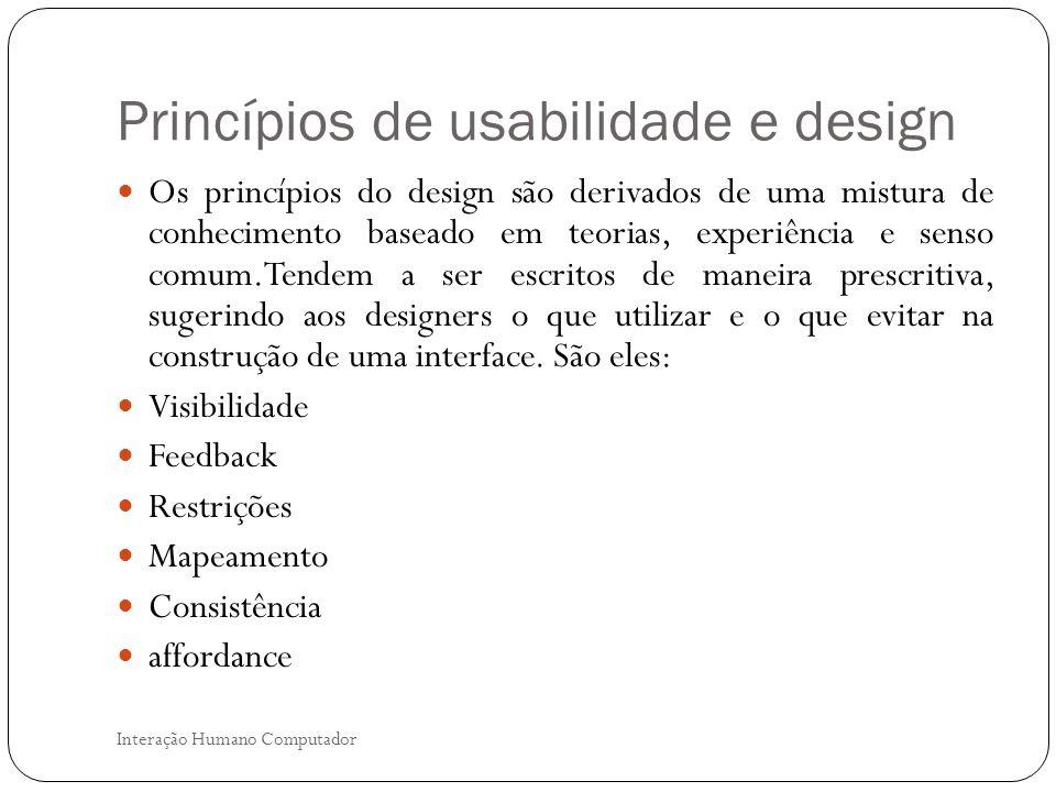 Princípios de usabilidade e design