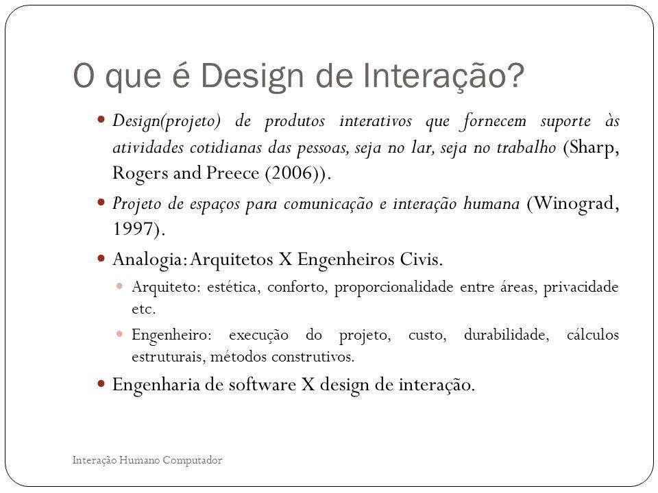 O que é Design de Interação