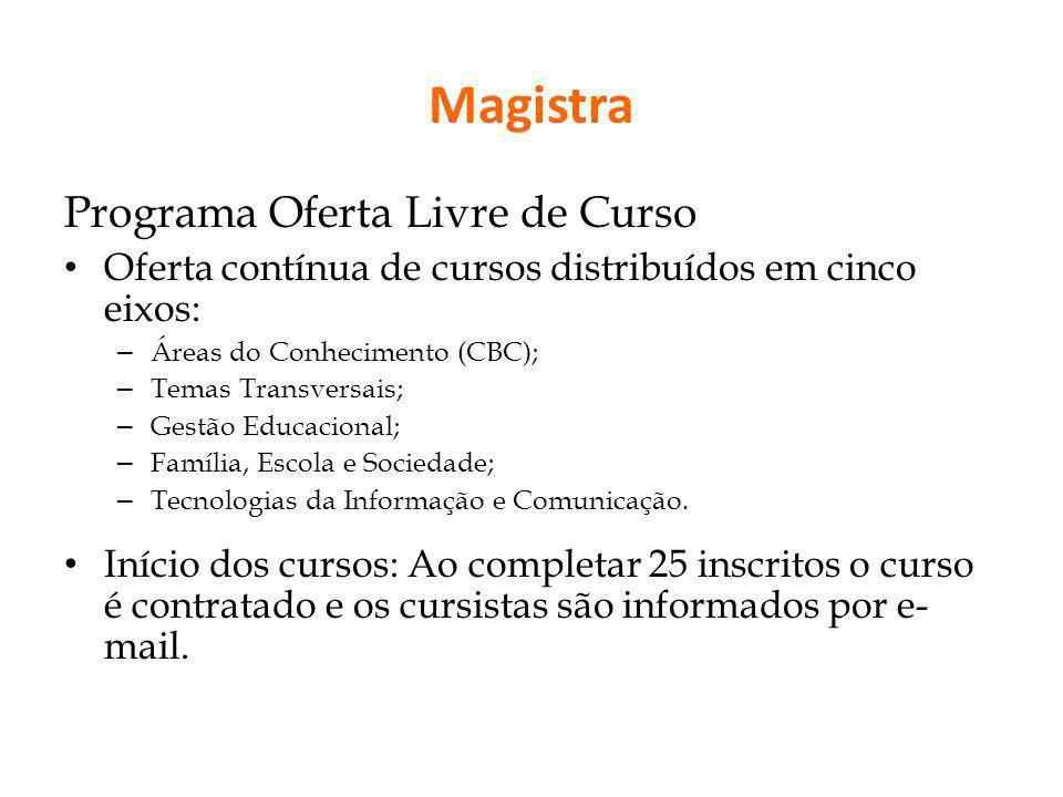 Magistra Programa Oferta Livre de Curso
