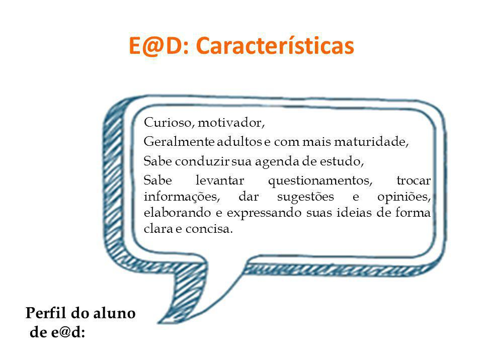 E@D: Características Perfil do aluno de e@d: