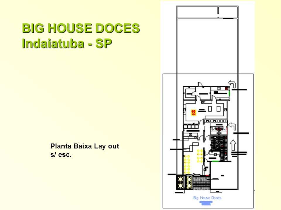 BIG HOUSE DOCES Indaiatuba - SP Planta Baixa Lay out s/ esc.
