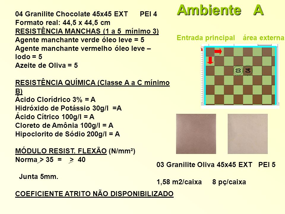 Ambiente A 04 Granilite Chocolate 45x45 EXT PEI 4