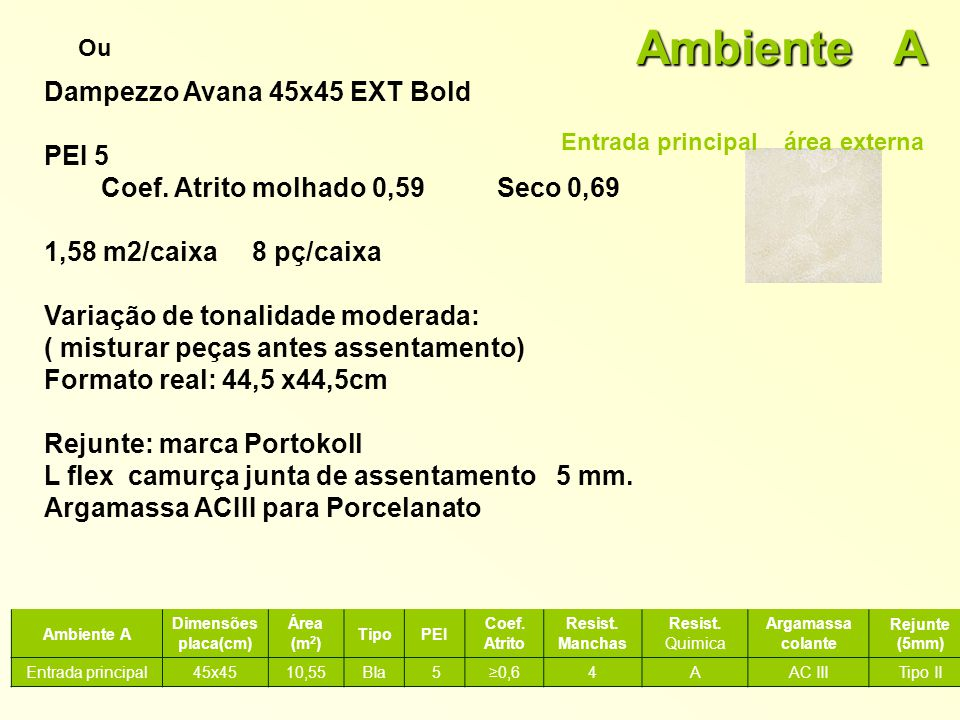 Ambiente A Dampezzo Avana 45x45 EXT Bold PEI 5