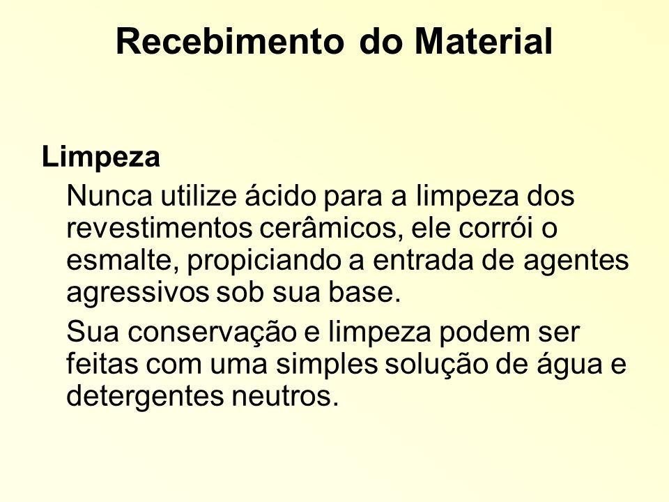 Recebimento do Material