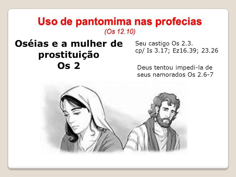 Uso de pantomima nas profecias (Os 12.10)