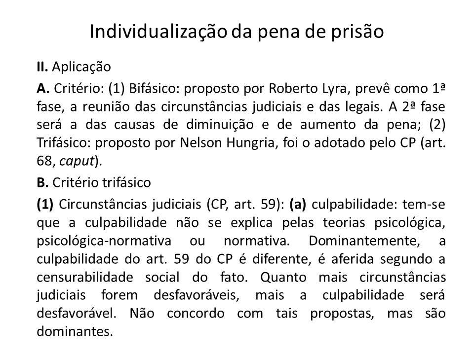 Individualização da pena de prisão