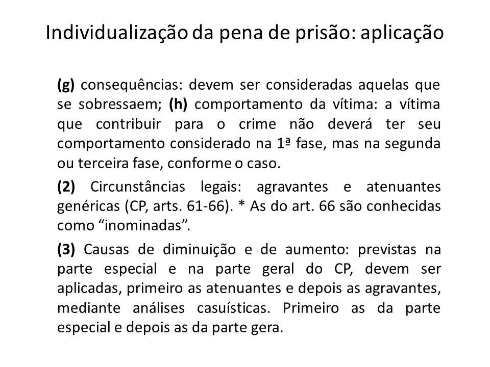 Individualização da pena de prisão: aplicação
