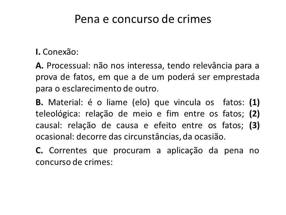 Pena e concurso de crimes