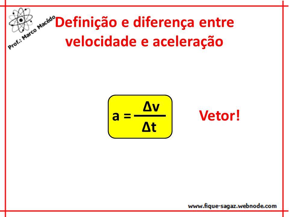 Definição e diferença entre velocidade e aceleração