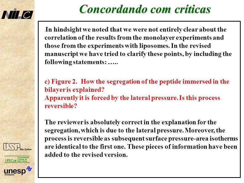 Concordando com críticas
