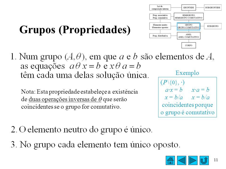 Grupos (Propriedades)