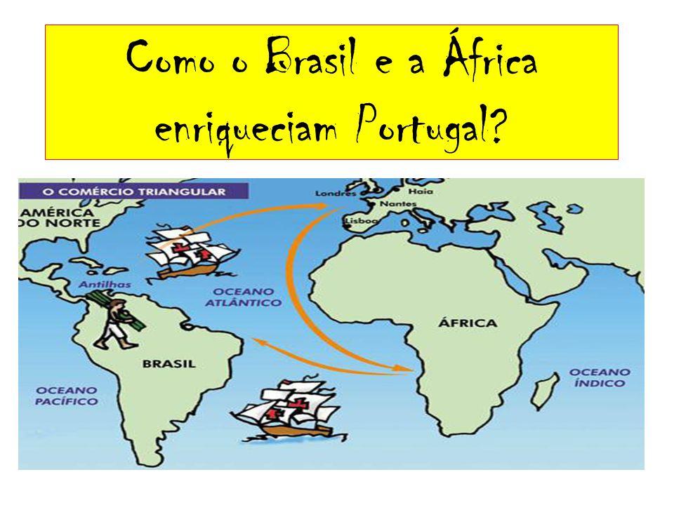 Como o Brasil e a África enriqueciam Portugal