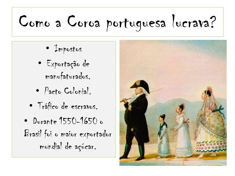 Como a Coroa portuguesa lucrava