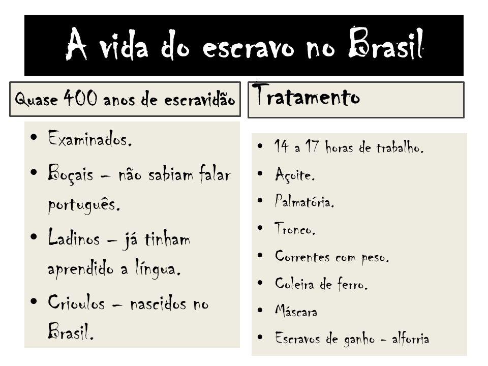 A vida do escravo no Brasil