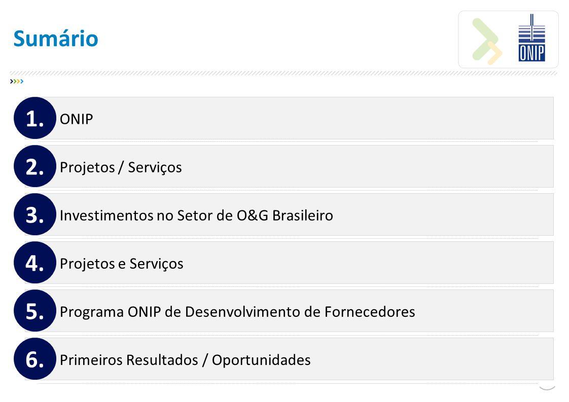 Sumário 1. 2. 3. 4. 5. 6. ONIP Projetos / Serviços