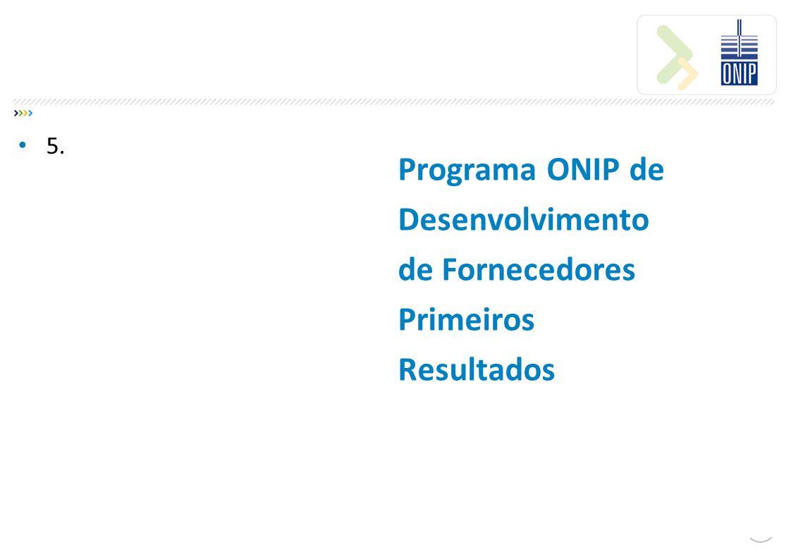 Programa ONIP de Desenvolvimento de Fornecedores Primeiros Resultados