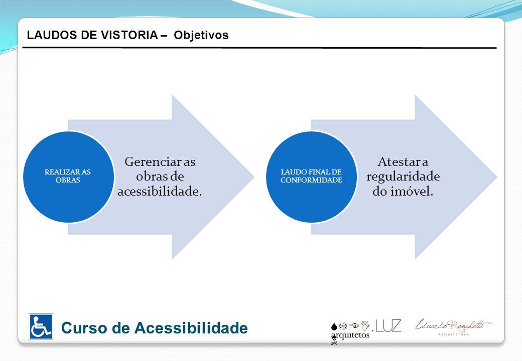 Gerenciar as obras de acessibilidade.