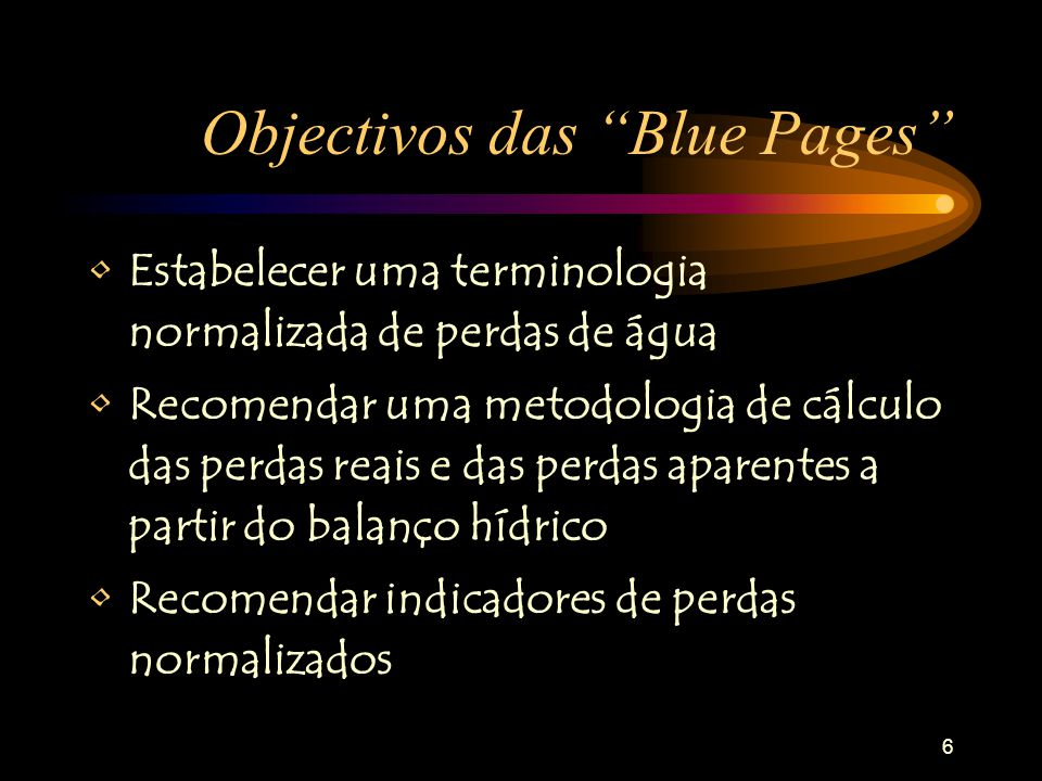 Objectivos das Blue Pages