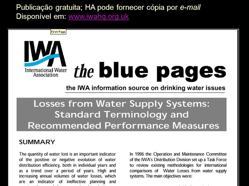 Publicação gratuita; HA pode fornecer cópia por e-mail