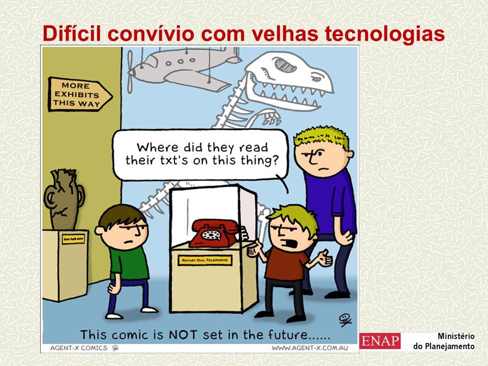 Difícil convívio com velhas tecnologias