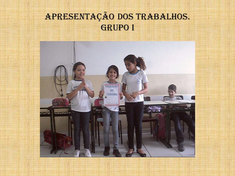 Apresentação dos trabalhos. Grupo i