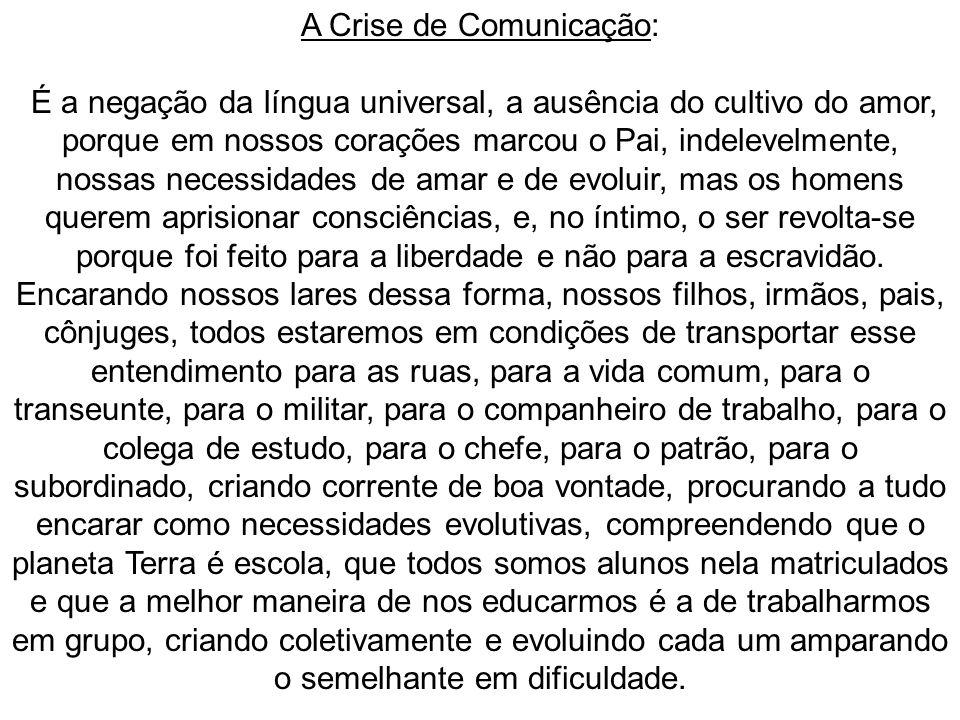 A Crise de Comunicação:
