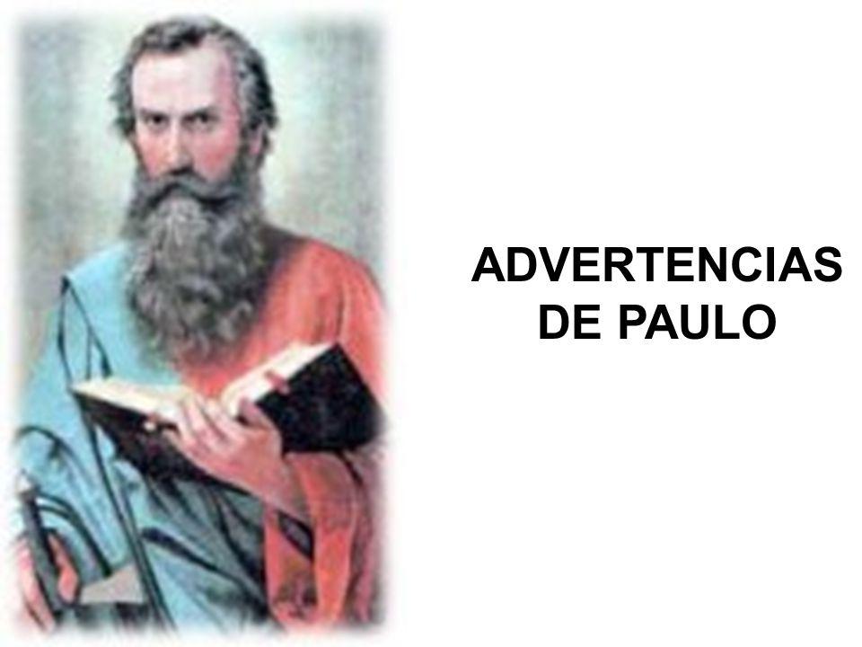 ADVERTENCIAS DE PAULO