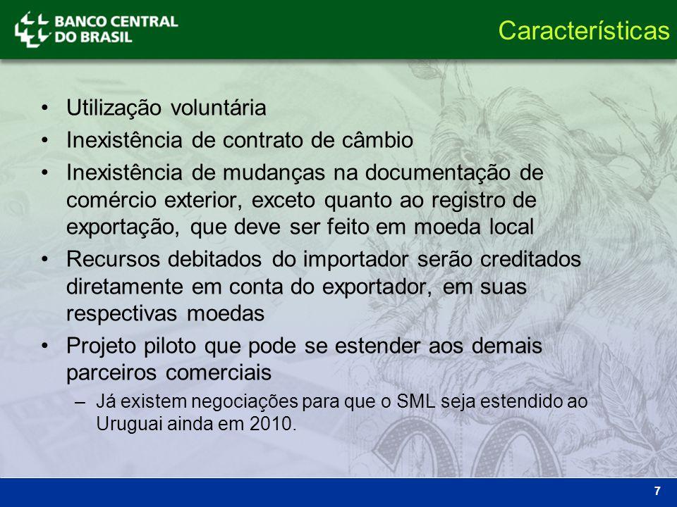 Características Utilização voluntária