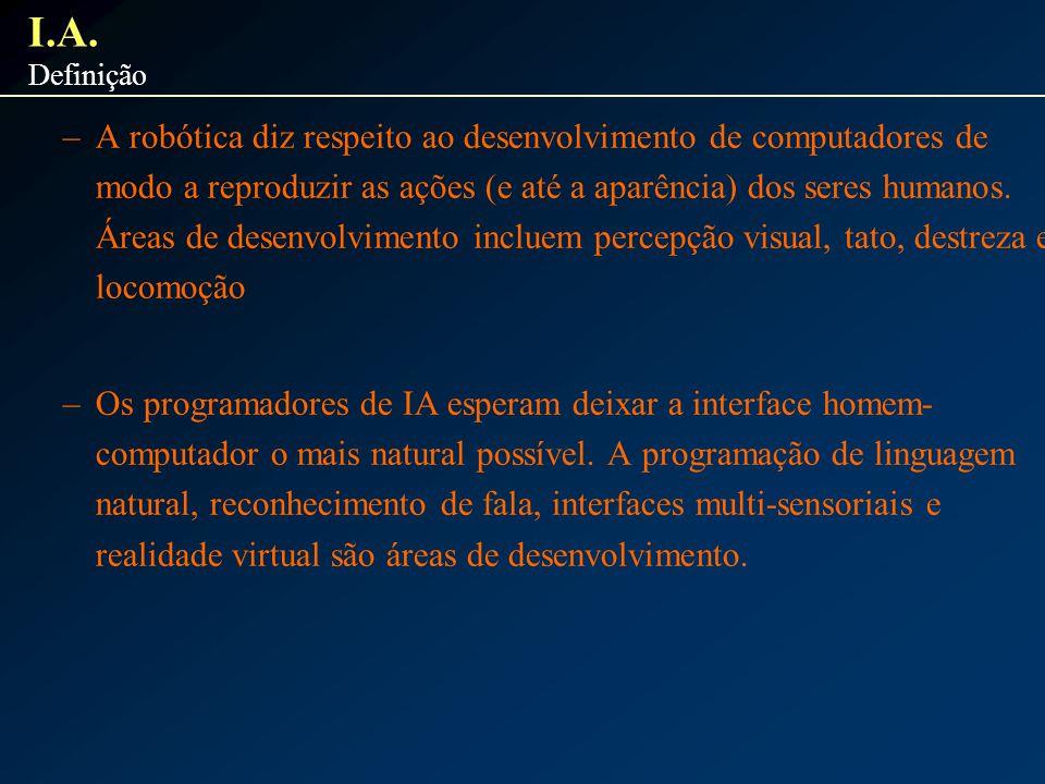 I.A. Definição.