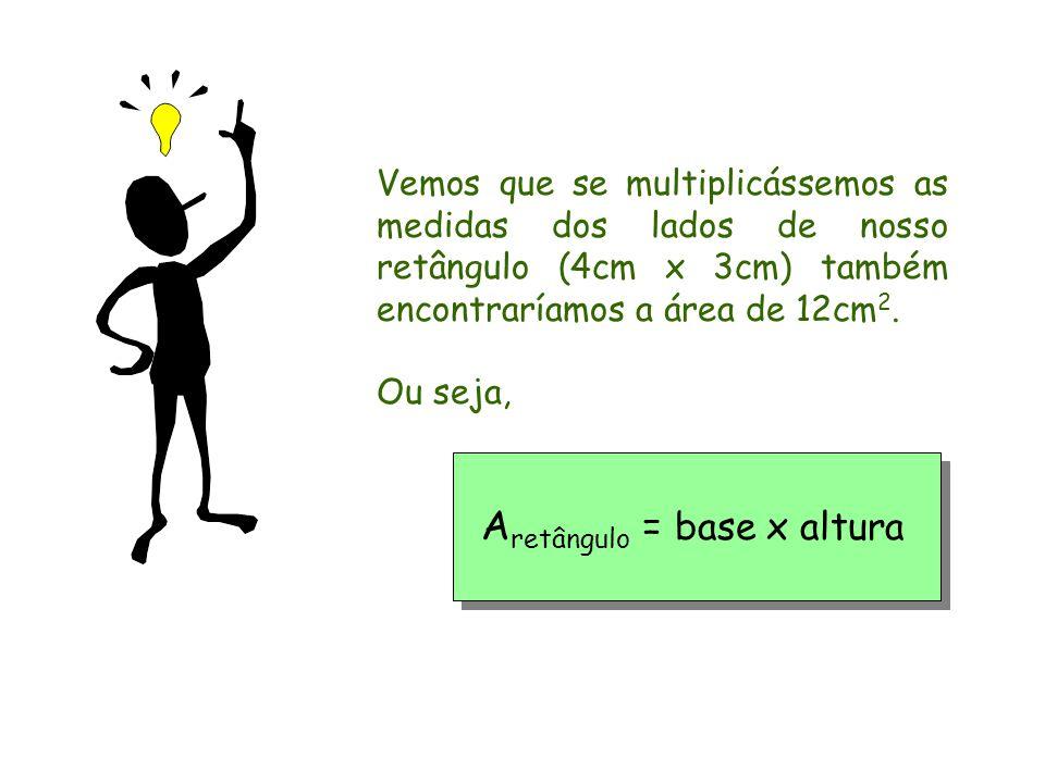 Aretângulo = base x altura