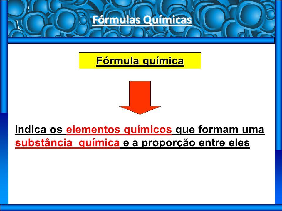 Fórmulas Químicas Fórmula química