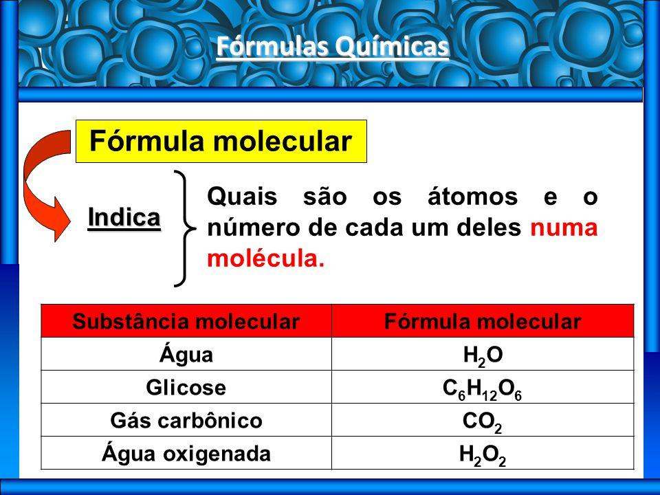 Fórmulas Químicas Fórmula molecular