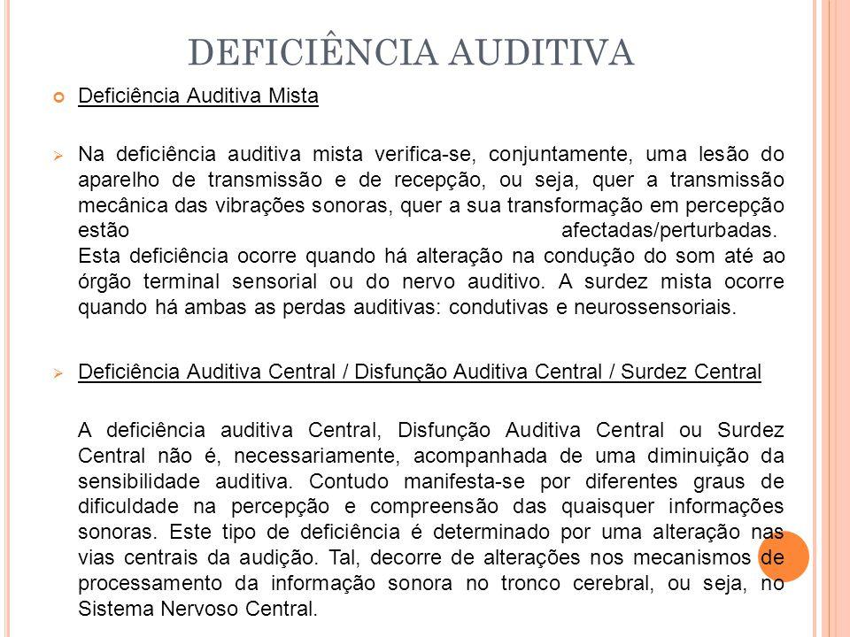 DEFICIÊNCIA AUDITIVA Deficiência Auditiva Mista