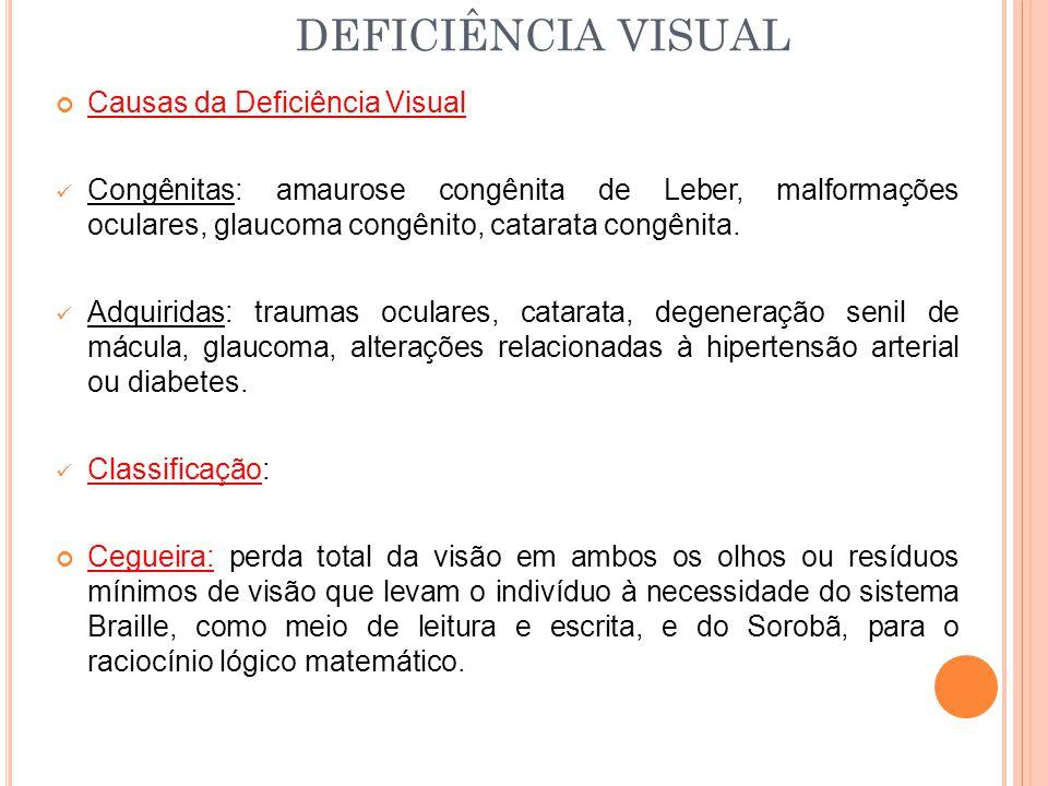 DEFICIÊNCIA VISUAL Causas da Deficiência Visual